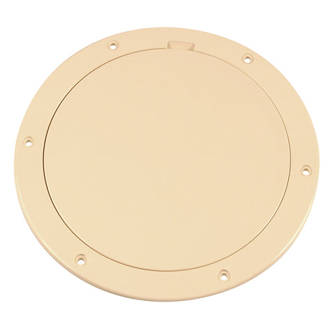 "Beckson 6"" Smooth Center Pry-Out Deck Plate - Beige [DP61-N]"