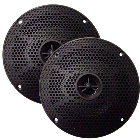 "SeaWorthy SEA5582B 5"" Round 2-Way Speakers - 75W - Black *Bulk Package* [SEA5582B]"