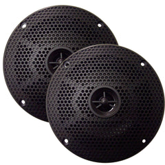 "SeaWorthy SEA5632B 6.5"" Round 2-Way Speakers - 100W - Black *Bulk Package* [SEA5632B]"