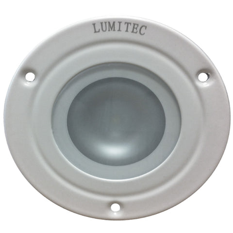 Lumitec Shadow - Flush Mount Down Light - White Finish - 3-Color Red-Blue Non Dimming w-White Dimming [114128]