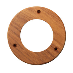 "Whitecap Teak Trim Ring - 4"" Inner Diameter Opening [61974]"