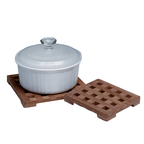 "Whitecap Teak Small Square Trivet - 6"" [62420]"