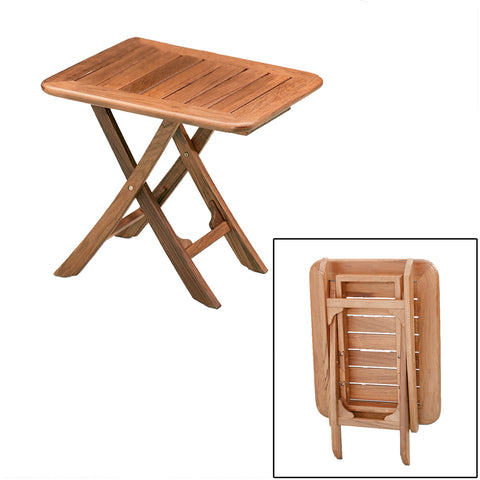 Whitecap Teak Small Adjustable Slat Top Table [60028]