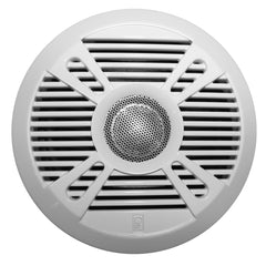 "Poly-Planar MA7050 5"" 2-Way Marine Speaker w-2 Grills - White & Graphite [MA7050]"