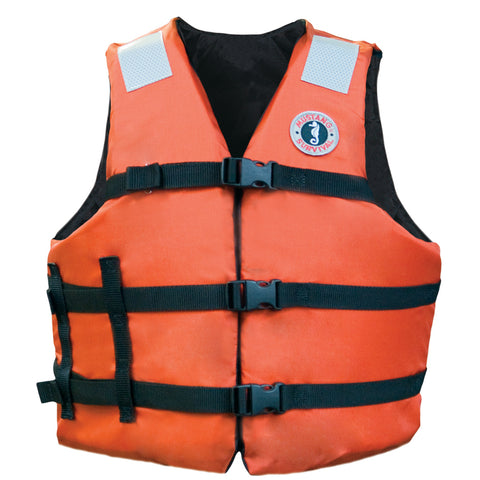 "Mustang Adult Universal Fit Industrial Flotation Vest - 30""-52"" Vest - Orange [MV3104T1]"