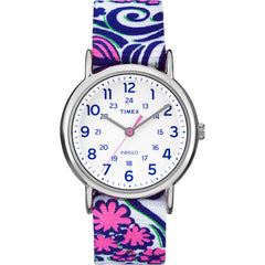 Timex Weekender Full-Size Watch - Reversible Floral Swirl-Blue [TW2P902009J]