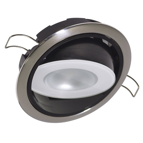 Lumitec Mirage Positionable Down Light - White Dimming, Red-Blue Non-Dimming - Polished Bezel [115118]