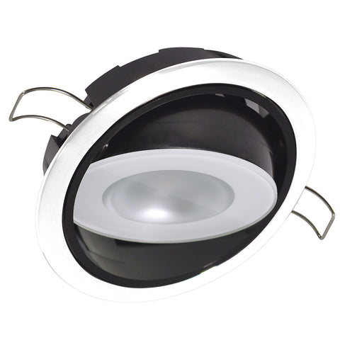 Lumitec Mirage Positionable Down Light - White Dimming, Red-Blue Non-Dimming - White Bezel [115128]
