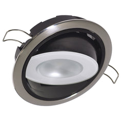 Lumitec Mirage Positionable Down Light - White Dimming - Polished Bezel [115113]