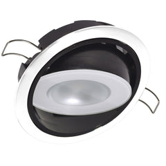 Lumitec Mirage Positionable Down Light - White Dimming - White Bezel [115123]