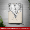 [Personalized] Elephants Canvas