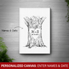 [Personalized] Tree Trunk Canvas