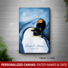 [Personalized] Penguin Love Canvas