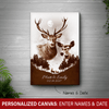[Personalized] Love Deers Canvas