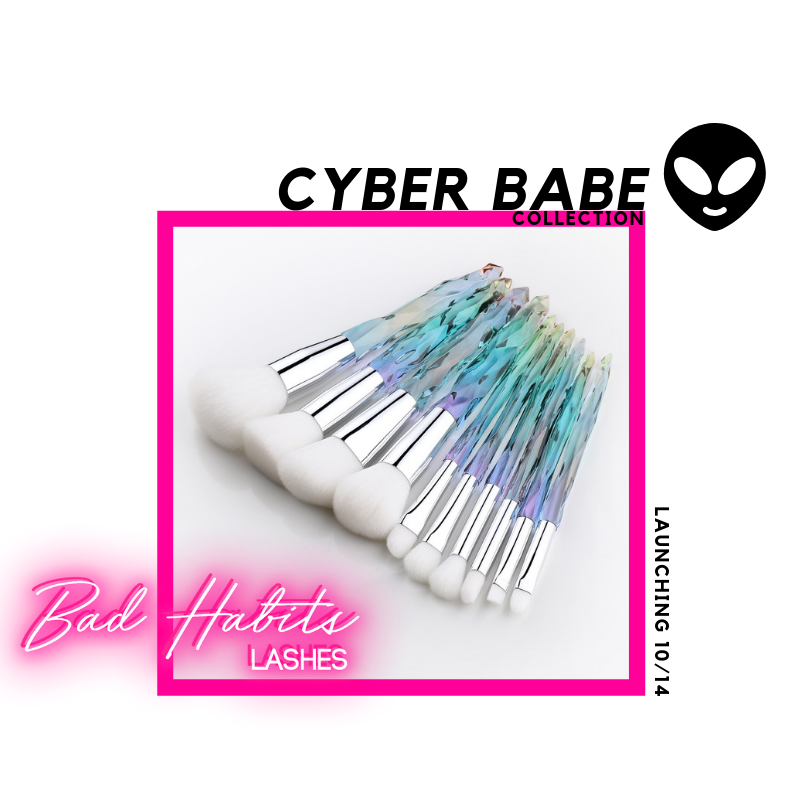 Cyber Babe Crystal Brush Set/Pre-Order