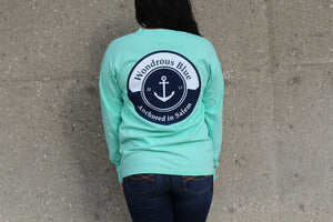 Long Sleeve Anchor Graphic Pocket T-Shirt
