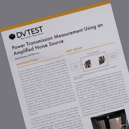 DVTEST Application Note Power Measurement Using an Amplified Noise Source