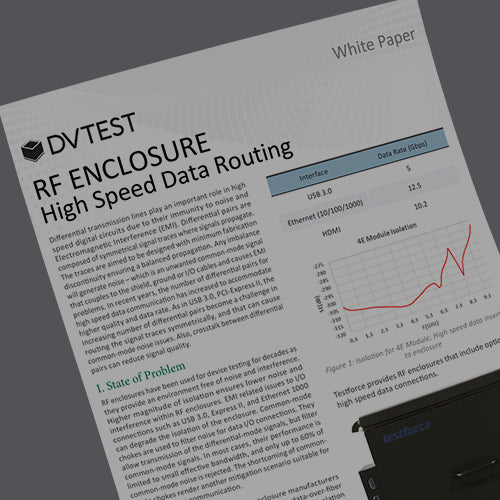 RF Enclosure High Speed Data Routing white paper DVTEST