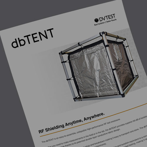DVTEST dbTENT RF test enclosure datasheet