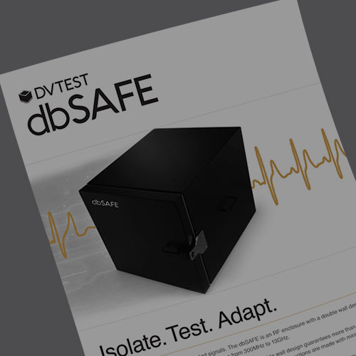 DVTEST dbSAFE DUO RF test enclosure datasheet