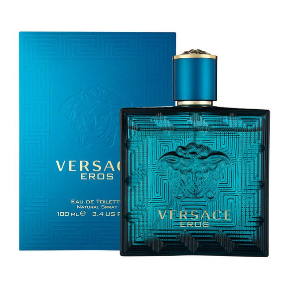Versace Eros Men 3.4 oz / 100 ml Eau de Toilette Spray