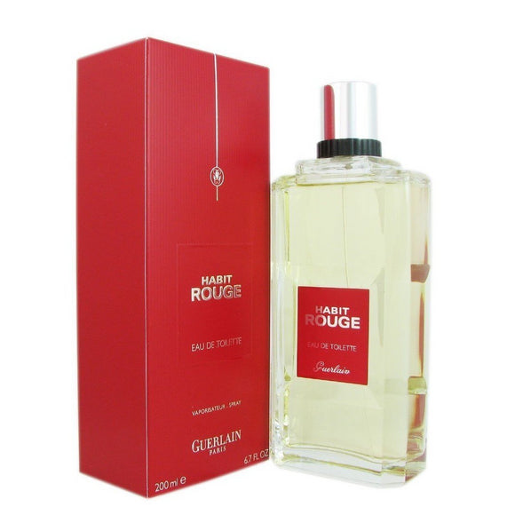 Guerlain Habit Rouge Men 6.7 oz / 200 ml Eau de Toilette Spray