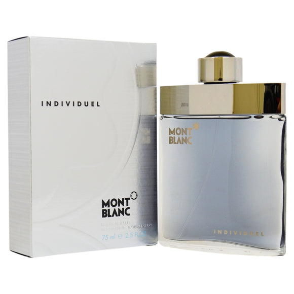 Mont Blanc Individuel Men 2.5 oz / 75 ml Eau de Toilette Spray