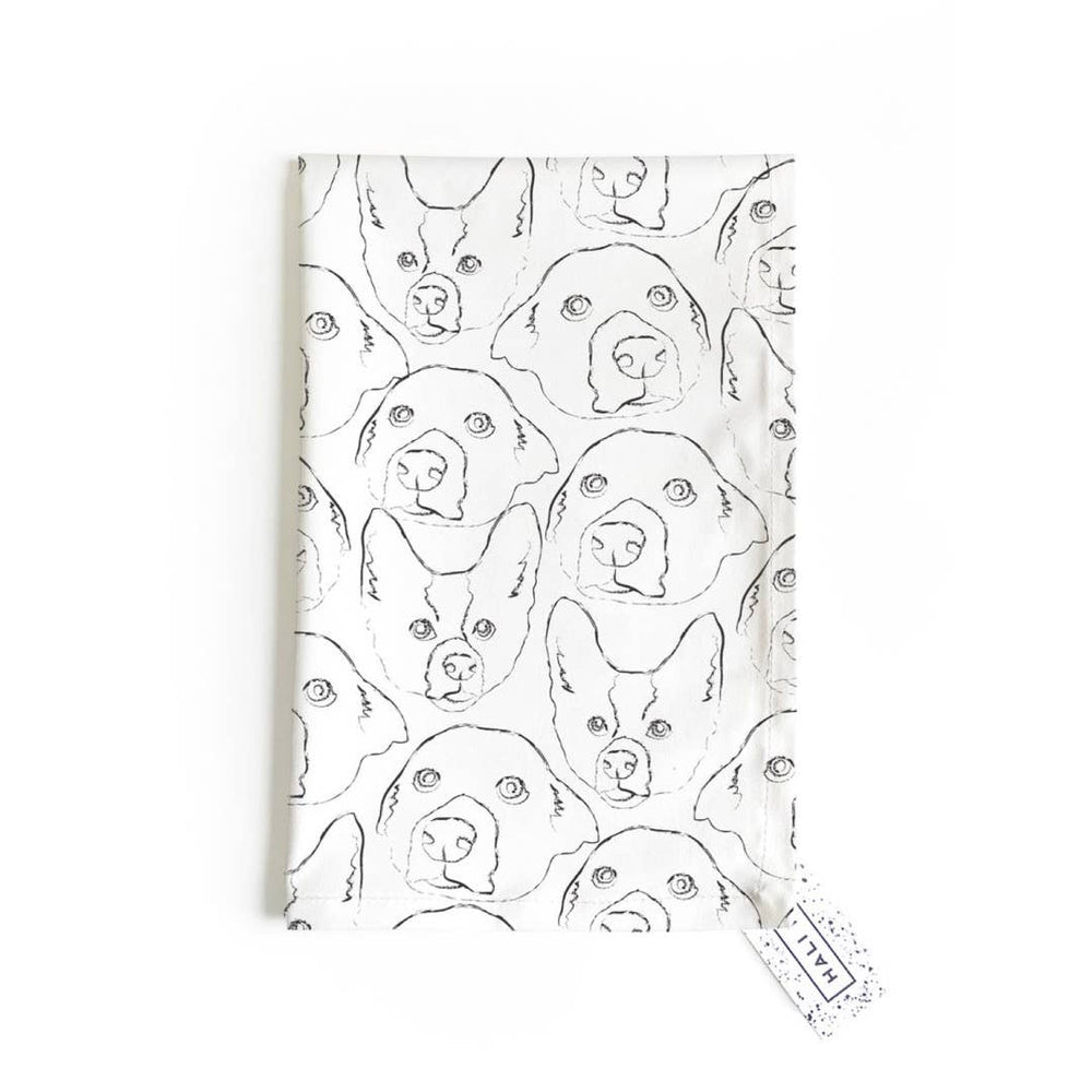 Load image into Gallery viewer, Tea Towel - Doggie Print