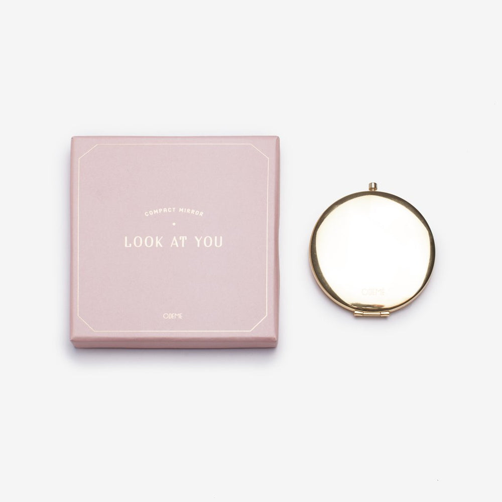 Gold Compact Mirror - Favor & Fern