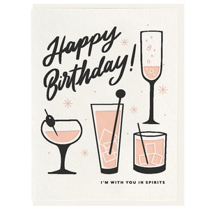 Birthday Spirits - Letterpress Card - Favor & Fern