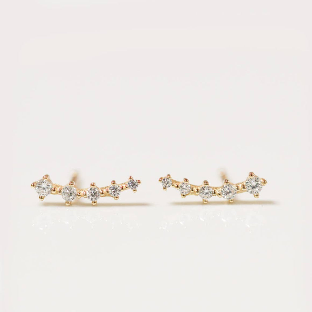 Clear Crawler Earrings - Favor & Fern