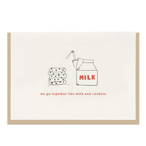 Milk & Cookies Letterpress Card - Favor & Fern