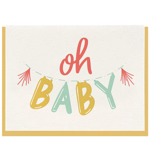 Oh Baby! Letterpress Card - Favor & Fern