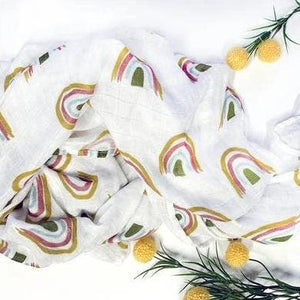Rainbow Bamboo Swaddle