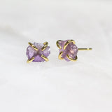 Amethyst Gem Prong Earrings