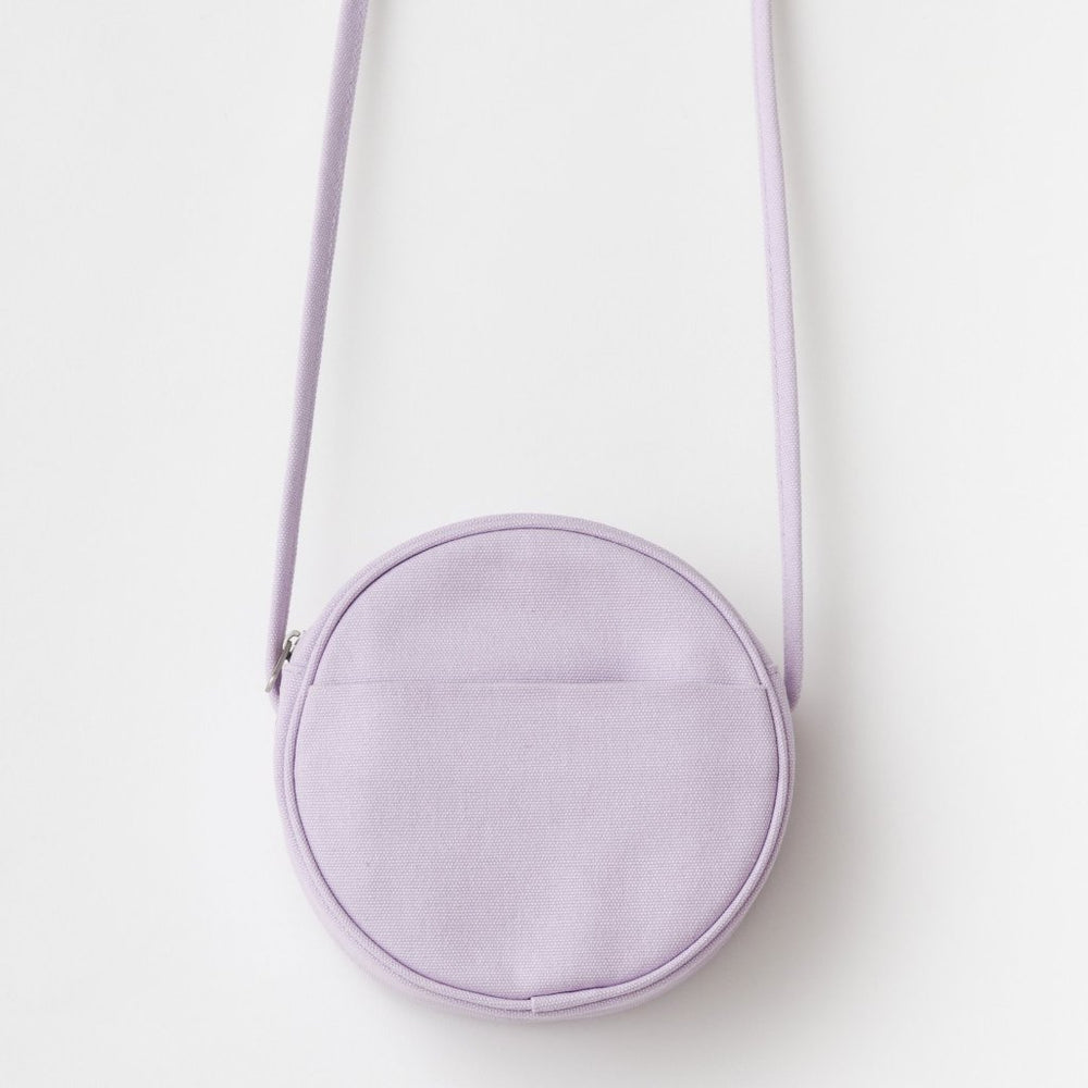 Load image into Gallery viewer, Lilac Canvas Circle Purse - Favor & Fern