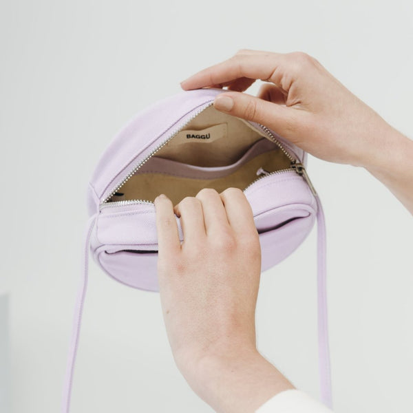 Lilac Canvas Circle Purse - Favor & Fern