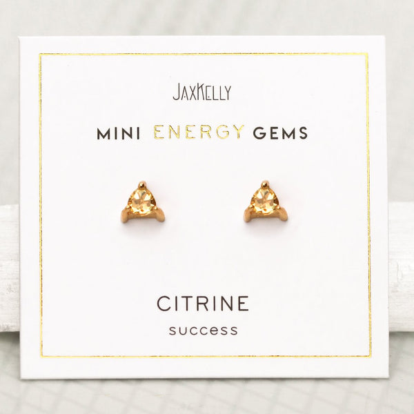Citrine Energy Gem Studs