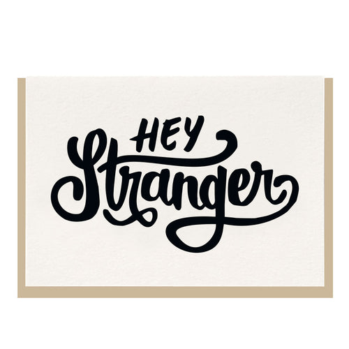 hey stranger card