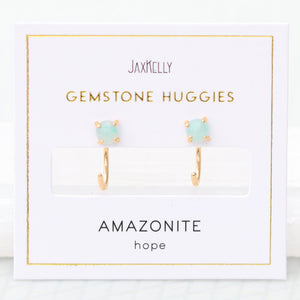 Amazonite Huggies - Favor & Fern