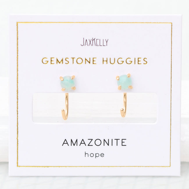 Amazonite Huggies