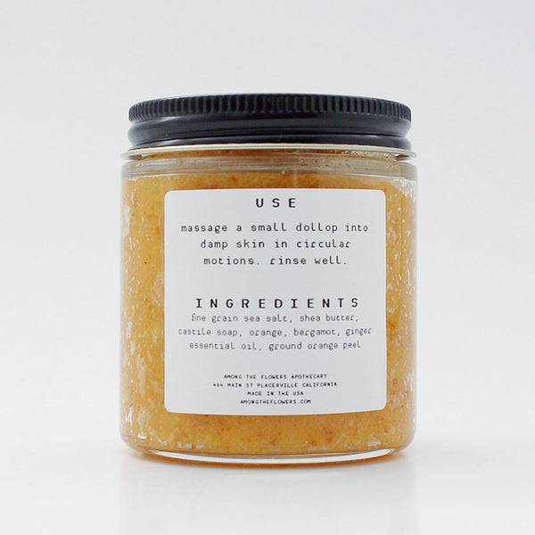 Orange Ginger Salt Scrub