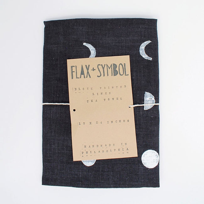 Black Moon Tea Towel