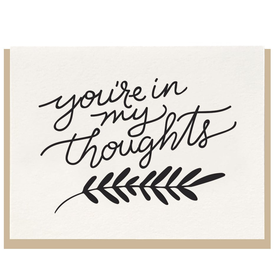 You're In My Thoughts Card