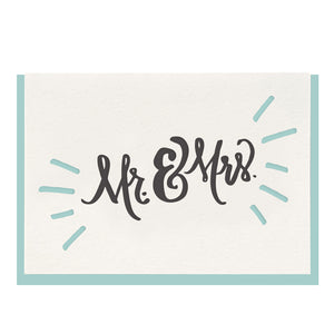 Load image into Gallery viewer, Mr. & Mrs. Card - Favor & Fern