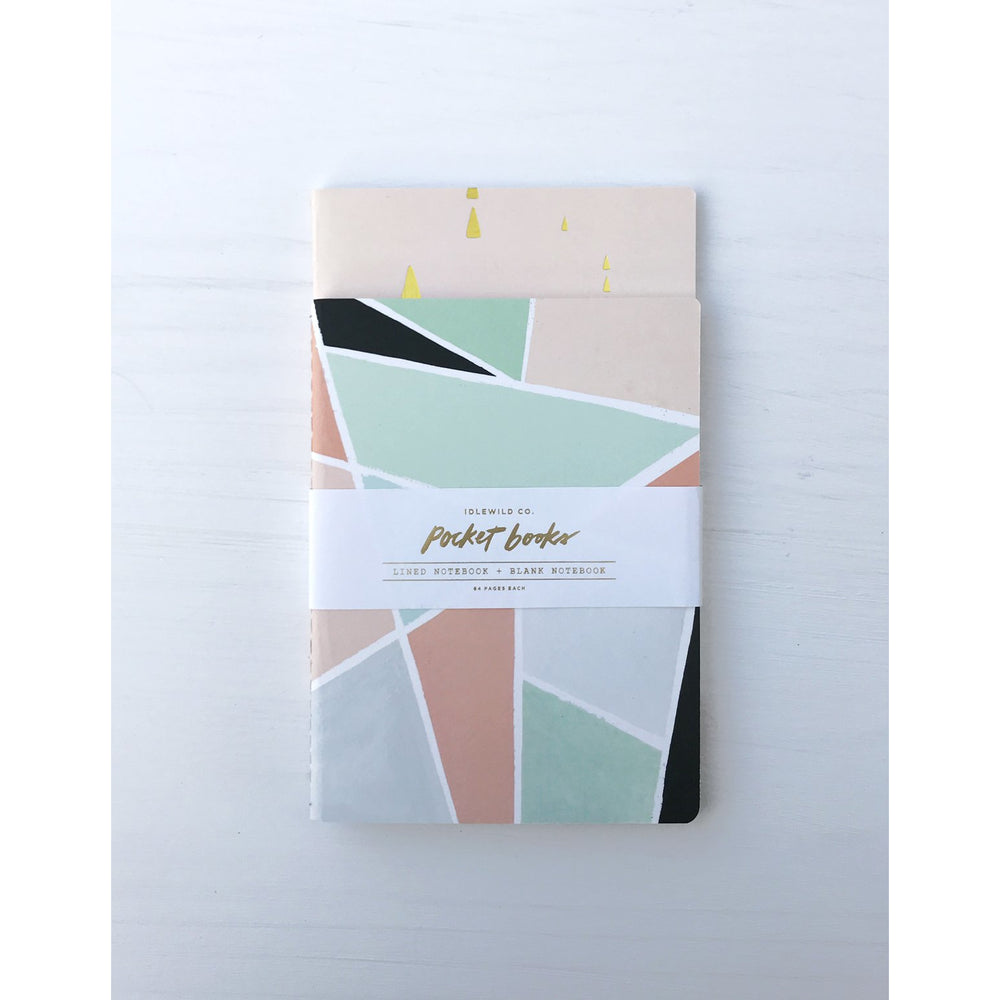 Geometric Pocket Notebook Set