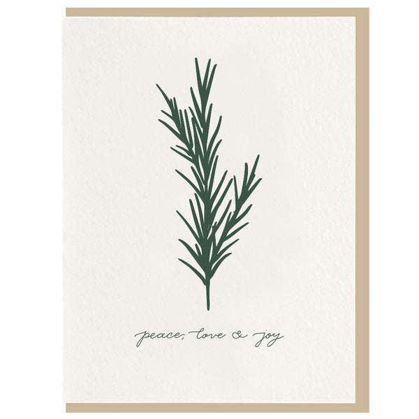 Peace, Love & Joy Card - Favor & Fern