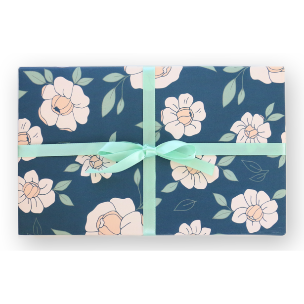 Night Floral Gift Wrap