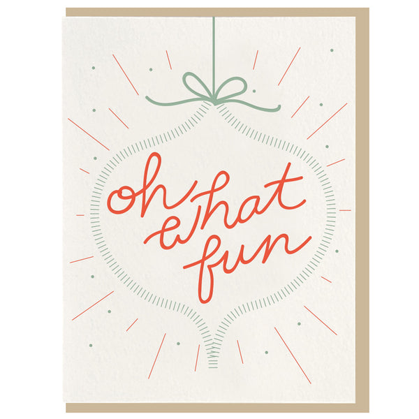 Oh What Fun Letterpress Card