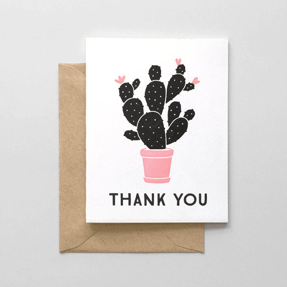 Cactus Thank You Card - Favor & Fern